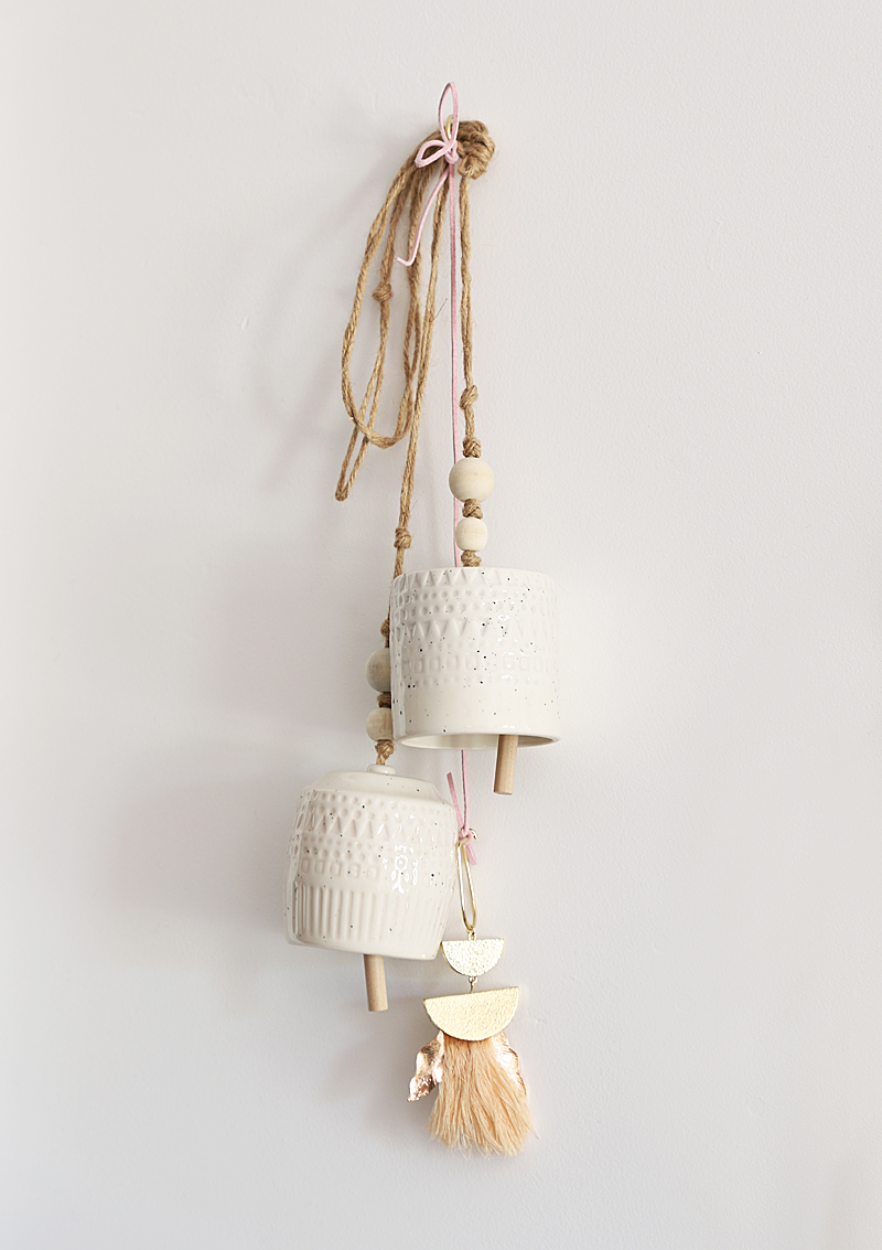 ceramic bells hanging