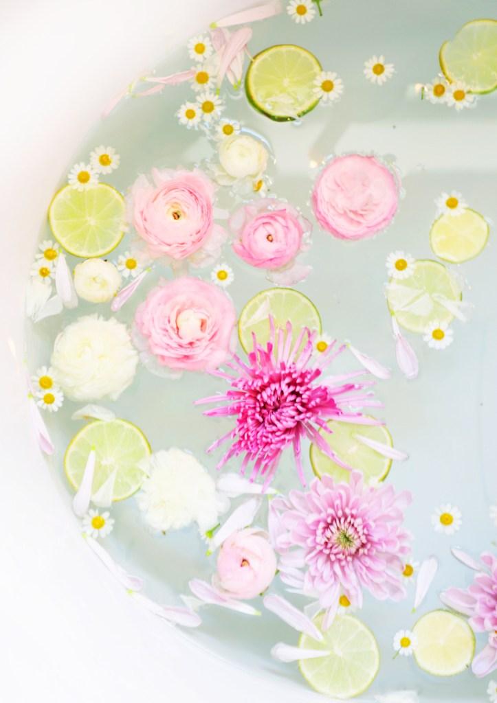 floral and citrus bath