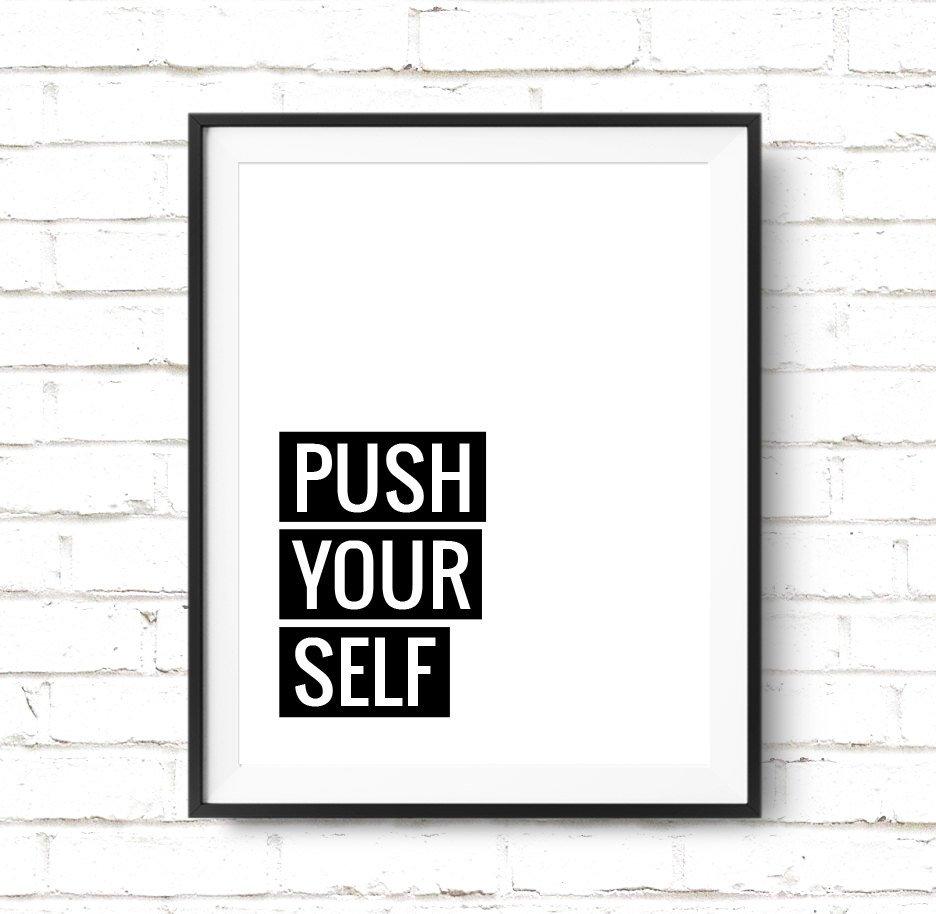 push your self print