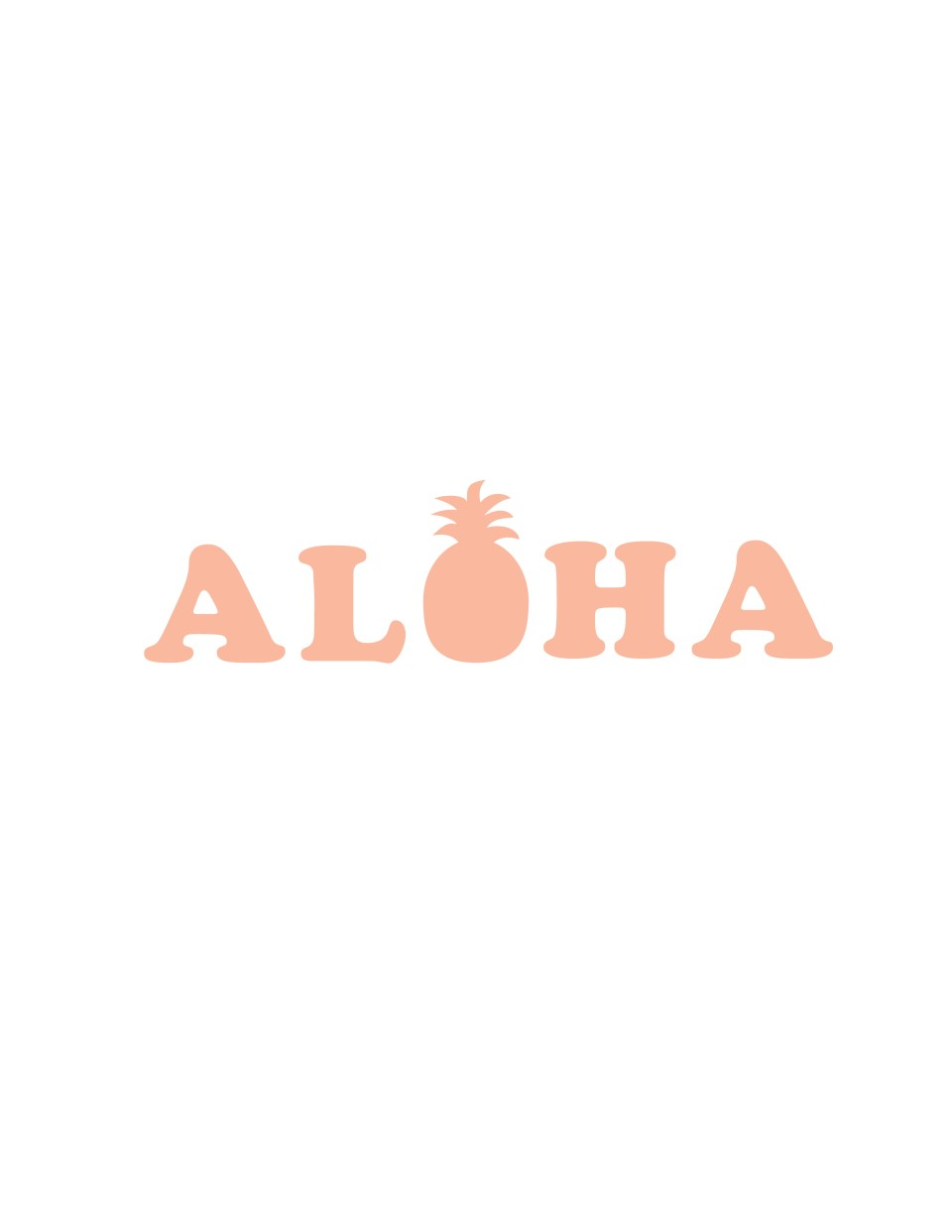 aloha printable with pineapple