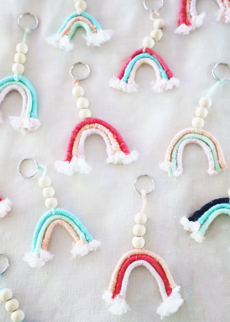 diy rainbow keychains