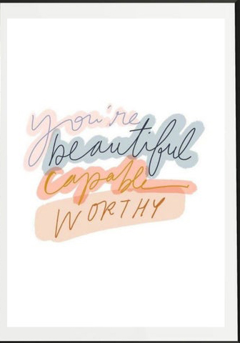 youre so beautiful art print