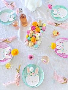 bunny easter dinner party