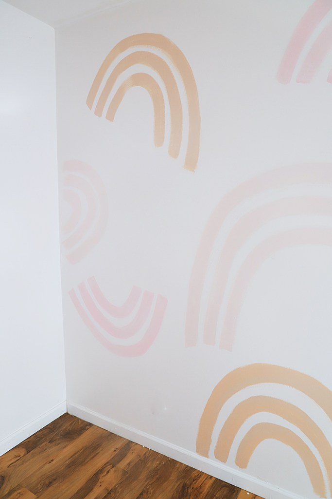 how to make a rainbow mural for playroom