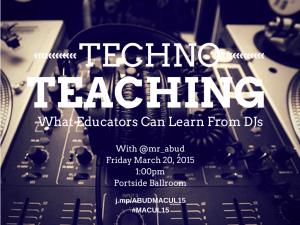 Techno Teaching Poster