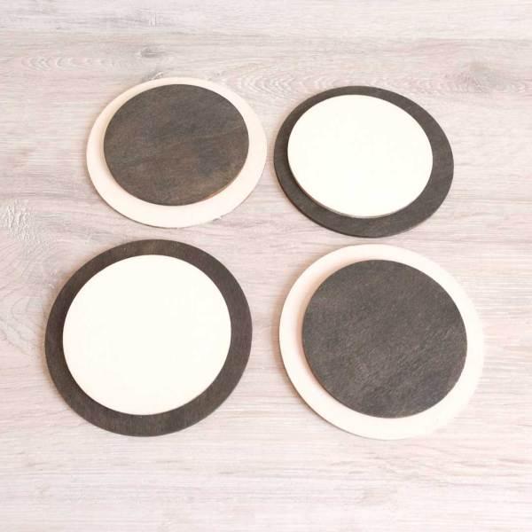 piezas sueltas redondas artesanales