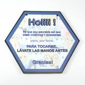 cartel de no tocar a mi hijo holiiii