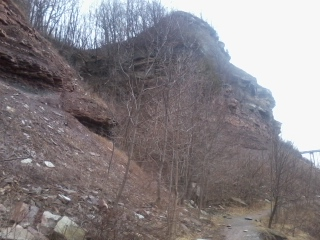Some of the top half of the stratigraphy of the Gorge.