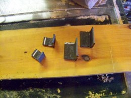 Parts of angle iron for the connector pockets.