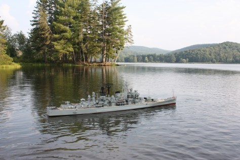 The U.S.S. Boston (CAG-I) in Red House Lake
