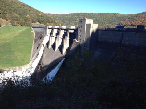 Downstream of the Kinzua Dam. (Photo by Roy Clay)