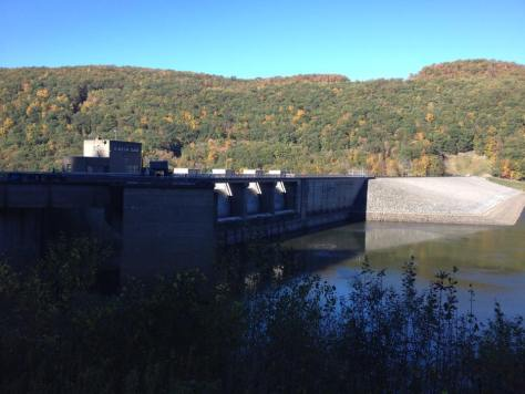 Upstream of the Kinzua Dam (Photo by Roy Clay)
