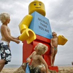 The Mystery of the Giant Lego Man