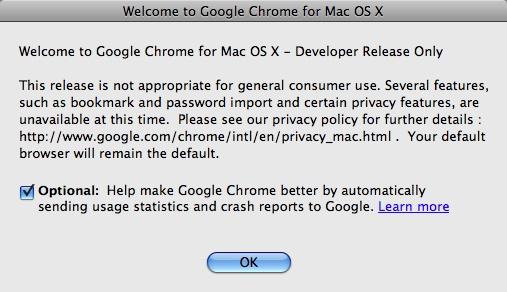 Google Chrome for Mac OS X Developer Beta Download | A