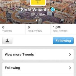 'Sede vacante': Papal Seat is empty and so is the Twitter account