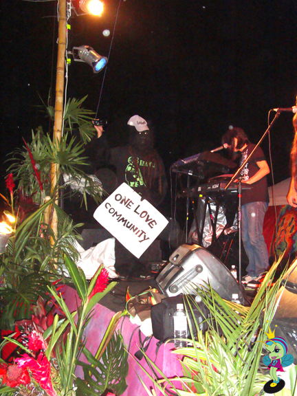 The Long Beach Gorilla was on stage with Ooklah the Moc