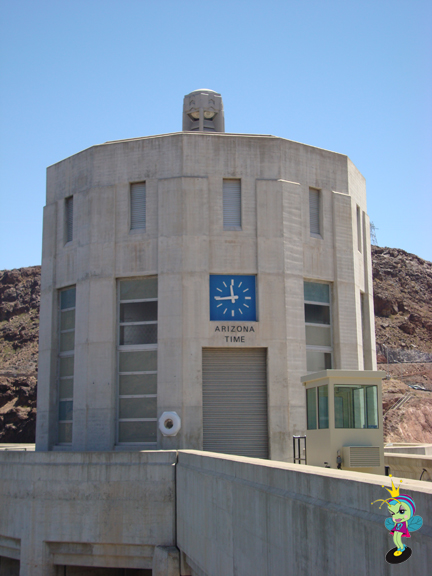 Driving across the dam takes one from Nevada to Arizona