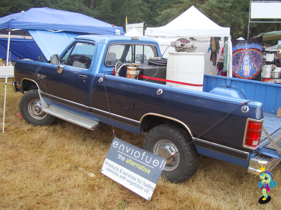 Bio Diesel conversion kits were even available at the festival!