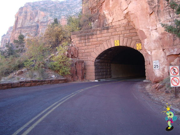 We took the scenic drive and had to go thru this tunnel