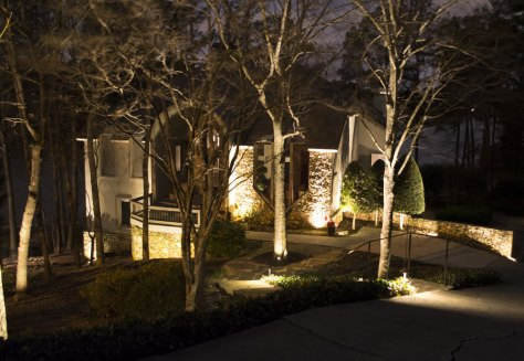 Atlanta Home with Landscape Lighting