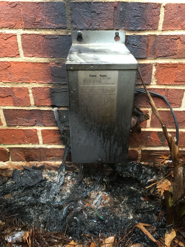 Landscape lighting dangers abulous lighting roswell alpharetta burned landscape lighting transformer aloadofball Choice Image