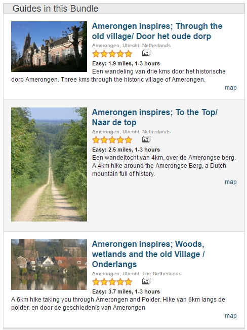 Screenshot Amerongen Inspireert op Everytrail