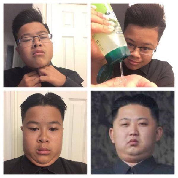 صور مضحكة لرئيس كوريا الشمالية