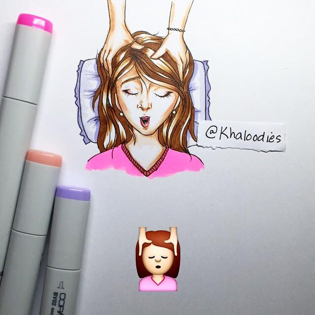 الفنان الاماراتي khaloodies يرسم الرموز التعبيرية