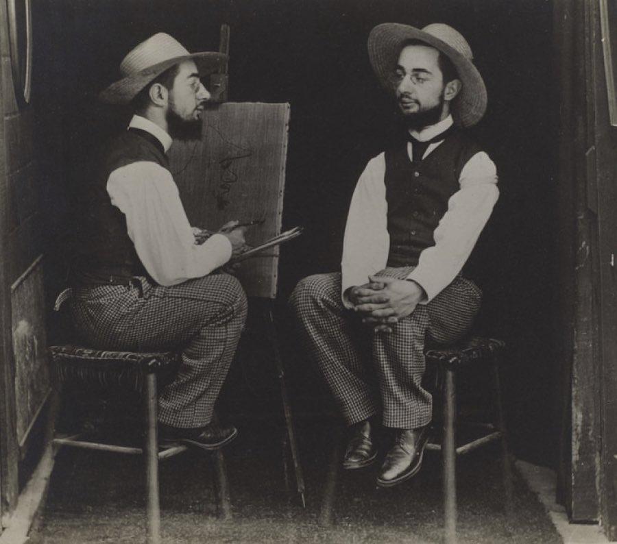Maurice Guibert (French, 1856-1913) Henri de Toulouse-Lautrec as Artist and Model ca. 1900