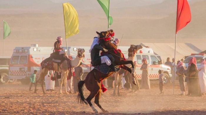 ركوب الخيل في مهرجان تبوك