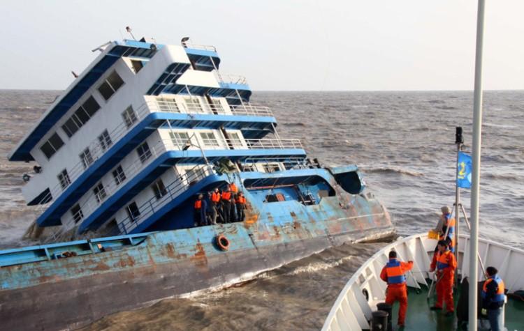 غرق سفينة شحن