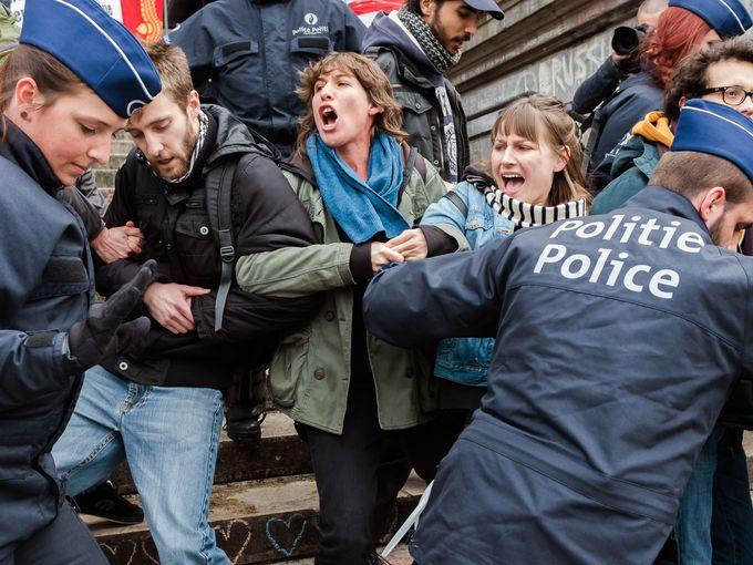 مظاهرات بروكسل