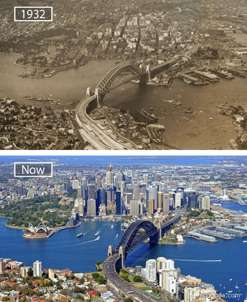 سيدني، أستراليا، عام 1932م واليوم.