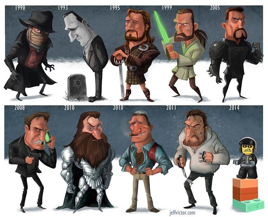 شخصيات كرتونية للممثلين