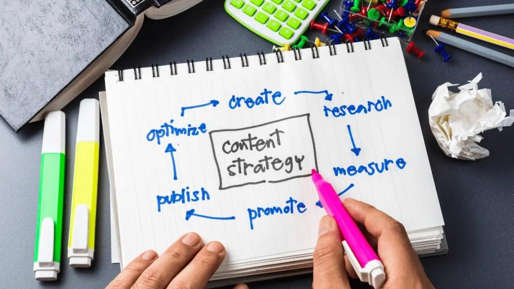 Content creation flow diagram