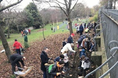 Tree planting 200 trees 200 children