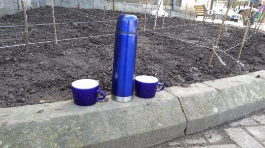 Abundance London Flag Pole Garden tea break