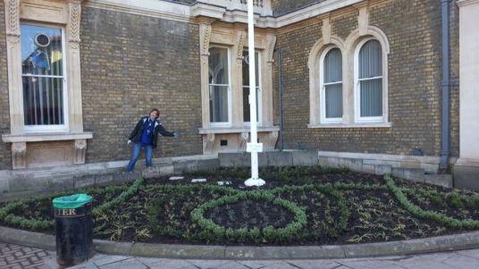 Abundance London Flag Pole Garden transformation