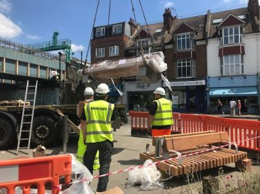 Abundance London Piazza Project Benches Unloading