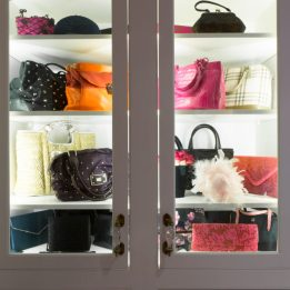 Organized Hand Bags in Master Closet
