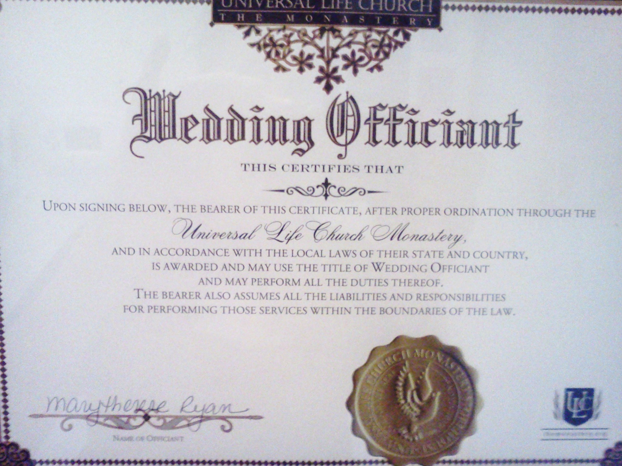 AbunDance Weddings   Begin with Bliss  Call 732 414 8644 Wedding officiant cert credentials