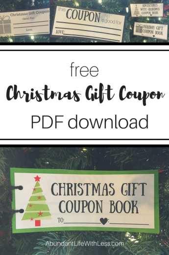 Free Christmas Gift Coupon Templates