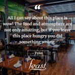 Feast - space with quote