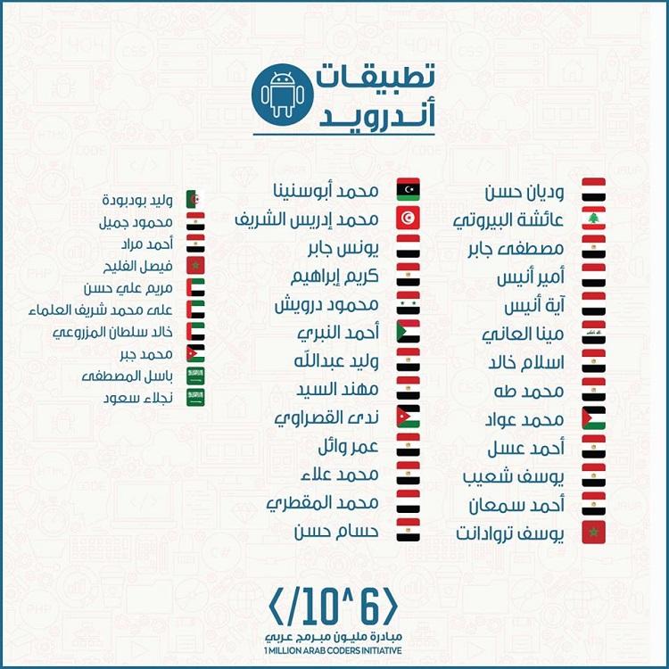 التسجيل في مبادرة مليون مبرمج عربي
