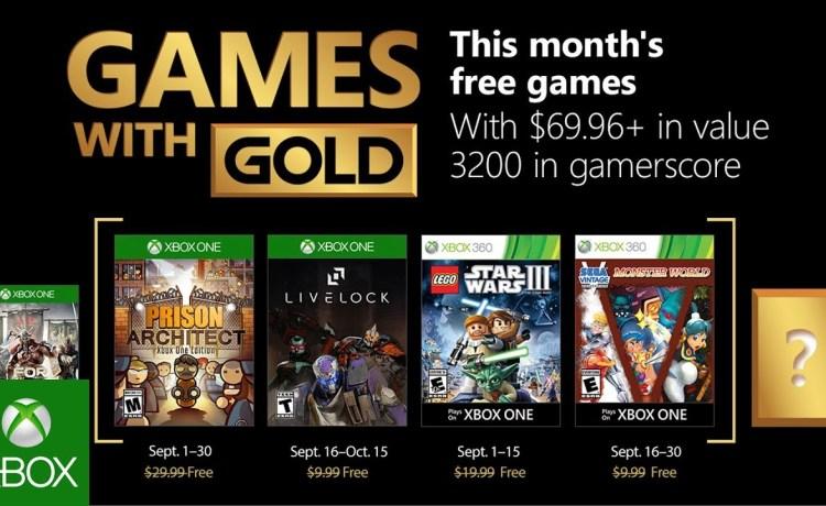 ألعاب إكس بوكس لايف جولد المجانية لشهر سبتمبر 2018