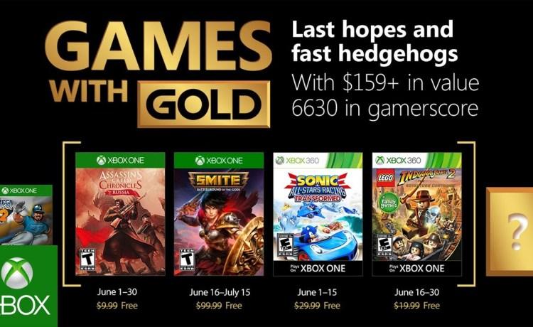ألعاب إكس بوكس لايف جولد المجانية لشهر يونيو 2018