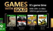 الألعاب المجانية لمشتركي إكس بوكس جولد لشهر مارس