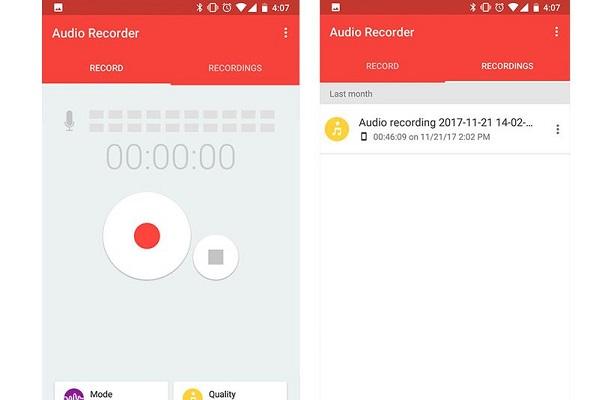 تطبيق AUDIO RECORDER