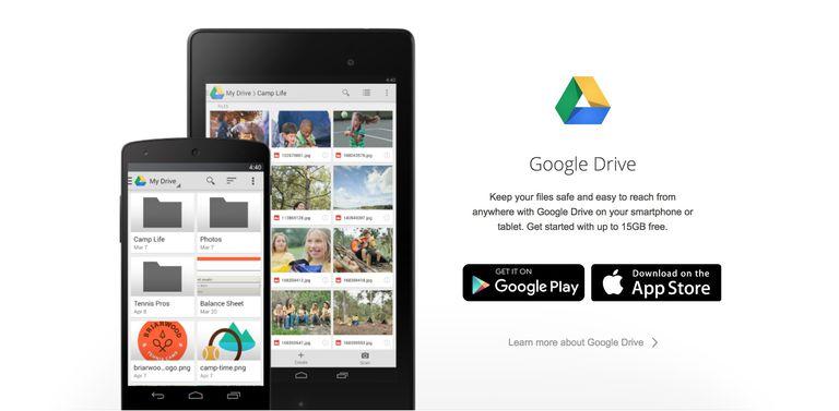تطبيق Google Drive