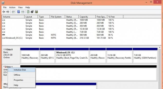 تهيئة قرص SSD